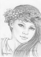 fairy queen of the unseelie court aceo sketch by mayumiogihara