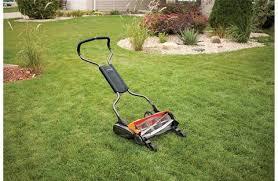 shop fiskars inches reel lawn mower at lowes com