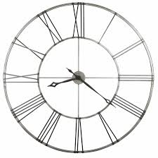 large wrought iron wall clock aged nickel howard miller 625472