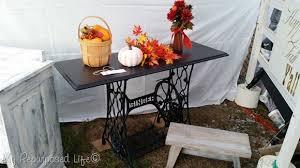 Singer Sewing Machine Desk Updated Singer Sewing Machine Table My Repurposed Life