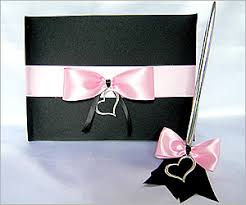 black wedding guest book wedding guest books and pen sets custom wedding signature books