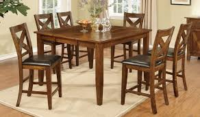 Counter Height Dining Room Furniture by 9 Piece Walnut Counter Height Dining Set Sam Levitz Furniture