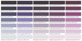 lavender paint colors chart paint chart chip sample