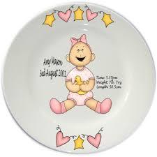baby birth plates personalized flair original personalised baby birth plates