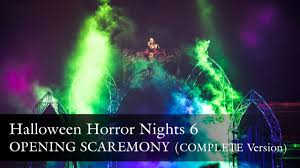halloween horror nights operating hours uss hhn6 opening scaremony full version halloween horror nights