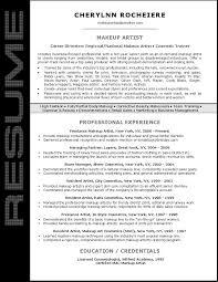 resume sle for makeup artist