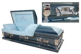 blue casket featured caskets