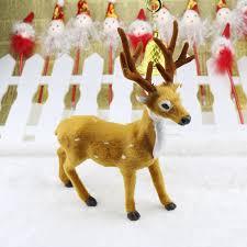 lovely simulation reindeer christmas ornament plush deer christmas