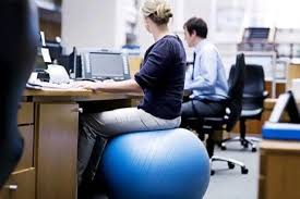 Desk Chair Workout Using Stability Ball As An Office Chair