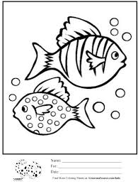 coloring pages fish bubbles ginormasource kids