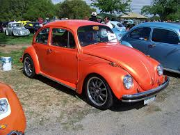 orange volkswagen beetle none 0621 texas vw classic