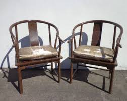 Chinese Armchair Horseshoe Chair Etsy