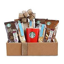 coffee and tea gift baskets california delicious starbucks coffee mornings gift