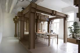 nothing cardboard office interior by alrik koudenburg and joost