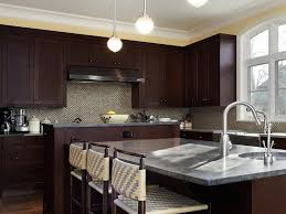 kitchens with espresso cabinets and wood flooring sharp home design