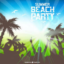 summer beach party free template vector free vector download in
