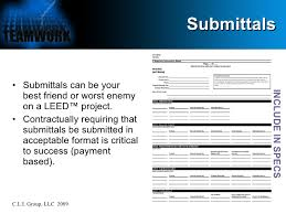 Submittal Cover Sheet Template Leed At The Jobsite