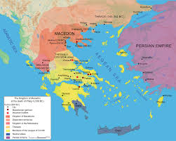 Map Of Ancient Greece Philip Ii Of Macedon Twilight Of The Polis In Ancient Greece