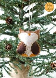 pdf pattern woodland fox winter felt ornament pattern