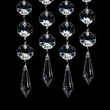 Acrylic Crystal Chandelier Drops by Amazon Com Xcsource 12pcs Acrylic Hanging Crystal Wedding Beads