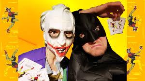 batman vs joker real life card game surprise youtube
