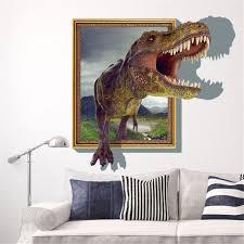 Jurassic World Bedroom Ideas Sucis 3d Running Tyrannosaurus Rex Dinosaur Unique Removable Mural