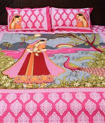 ramabhakta patch cotton bed sheets with 2 pillow covers buy
