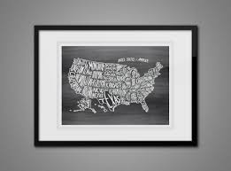 Wall Map Of Usa by Free Printable Wall Art Map Of Usa The Graffical Muse