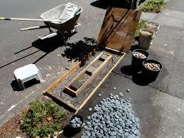 jeffrey bale u0027s world of gardens building a pebble mosaic stepping