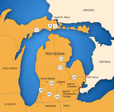 map of michigan michigan border map tbwg