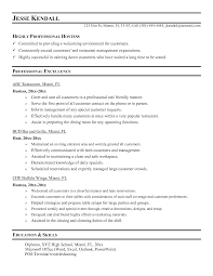 Sample Server Resume by Server Resume Description