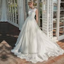 Civil Wedding Dress Princess Civil Wedding Dresses Lace Bride Dress 2017 V Back