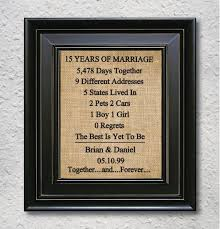 wedding anniversary gifts paper canvas 15 year anniversary