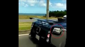 pagani back pagani zonda rear ended by guy taking video