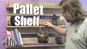 how to build pallet bookshelf free and easy home mender youtube
