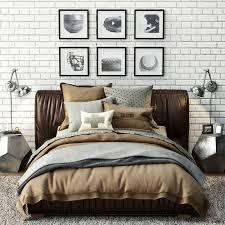 upholstered platform bed 3d max