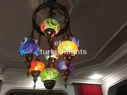 Turkish Chandelier 9 Turkish Sultan Mosaic Chandelier Turkishlights Net