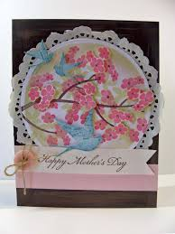 handmade mother u0027s day card kitchen table stamper