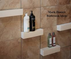 bathroom remodeling design ideas tile shower shelves renovation
