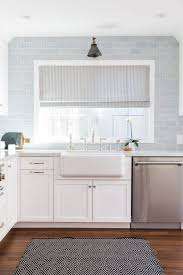 White Glass Cabinet Kitchen Backsplashes Modern Concept Kitchen Backsplash Blue