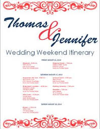 wedding itinerary template for guests wedding itinerary wedding itinerary template bridetodo
