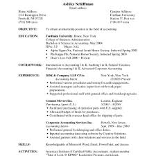 cover letter objective for accountant resume resume career