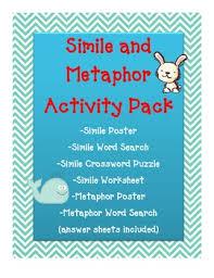 figurative language simile metaphor fun activity worksheets
