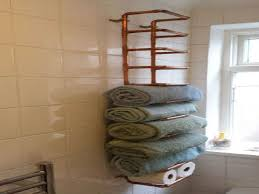 Towel Rack Ideas For Bathroom Awesome Bathroom Towel Racks Ideas On Gallery Of Unique Bathroom