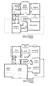 dazzling design 2 story house plans with office 4 plan 23442jd