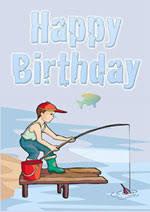 printable fishing birthday card bd card pinterest birthday