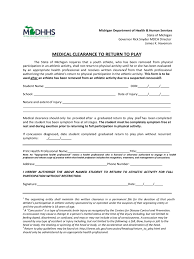 Power Of Attorney Form Michigan by Medical Clearance Form 2 Free Templates In Pdf Word Excel Download
