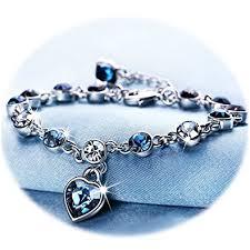sapphire crystal bracelet images Love heart ocean blue crystal bracelet for women and jpg