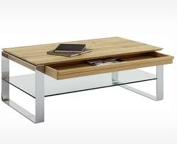 contemporary coffee table natural oak rectangular with