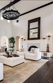admirable spanish home interior design with dark wood floor and